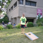 Bean bag toss on the west lawn.